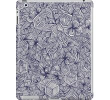 Held Together - a pattern of navy blue doodles iPad Case/Skin