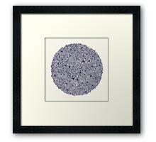 Held Together - a pattern of navy blue doodles Framed Print