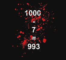 Countdown from 1000 in 7s Unisex T-Shirt
