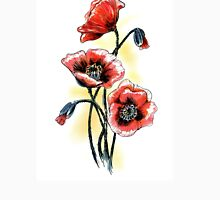 Poppies Womens Fitted T-Shirt