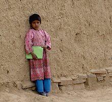 Shcoolgirl in Afghanistan by Antanas