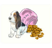 Baet hound spilled the cookies Art Print