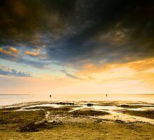 Beach sunset by Csaba Jekkel