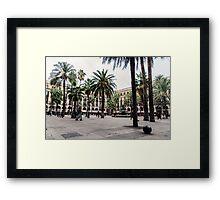 Barcelona - Urban Scene Framed Print