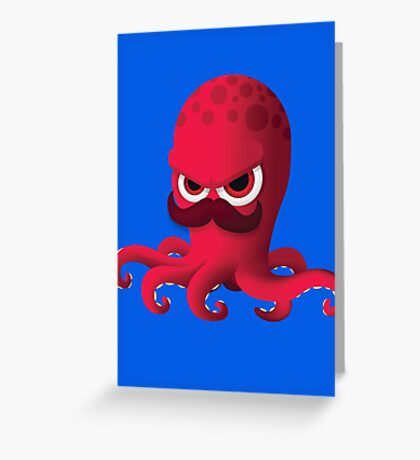 """Bubble Heroes - Boris the Octopus """"Solo"""" Edition Greeting Card"""