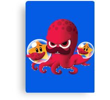 "Bubble Heroes - Boris the Octopus ""Starfish"" Edition Canvas Print"