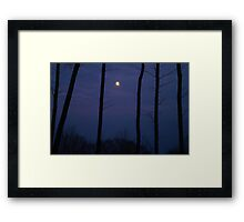 Vermont Moonlight Silhouette Framed Print