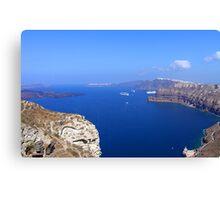 Santorini Caldera from near Akrotiri Canvas Print