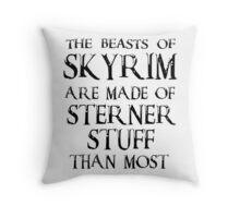 Beasts of Skyrim - black Throw Pillow