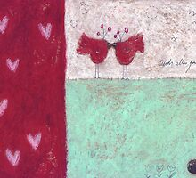 Hearts I by Tine  Wiggens