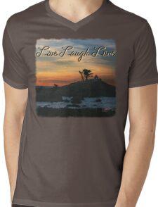 Lighthouse Sunrise Mens V-Neck T-Shirt