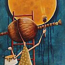 Painting the moon by StressieCat