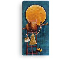 Painting the moon Canvas Print