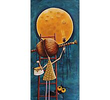 Painting the moon Photographic Print