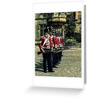 Holding the thin red line Greeting Card
