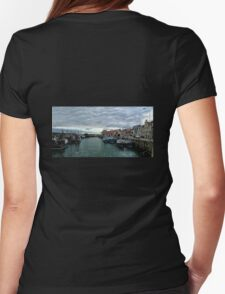 Pittenweem Harbour Womens Fitted T-Shirt