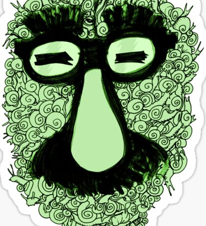 groucho marx snails Sticker