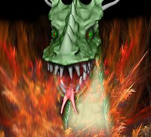 Green Dragon Head by Carol and Mike Werner