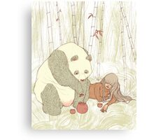 Panda Tea Party Canvas Print