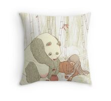 Panda Tea Party Throw Pillow