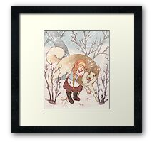 The Little Snow Girl Framed Print