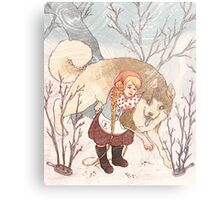 The Little Snow Girl Metal Print