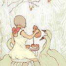 Swan Tea Party by Chelsea Greene Lewyta