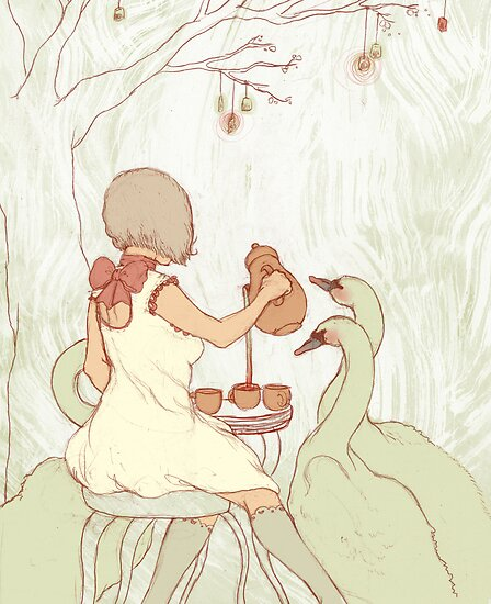 Swan Tea Party by Chelsea Greene Lewyta