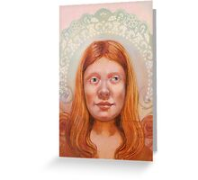 Isabel with Long Hair Greeting Card
