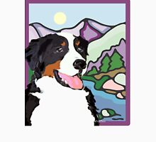 Bernese Mountain Dog  and mountains Unisex T-Shirt