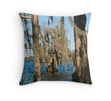 Trees with Hanging Moss Throw Pillow