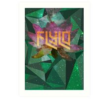 Flying Lotus Flower Art Print