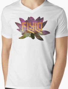 Flying Lotus Flower Mens V-Neck T-Shirt