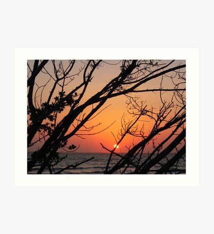 Sunset at Bowdage Point Art Print