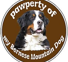 Pawperty of my Bernese Mountain Dog by IowaArtist
