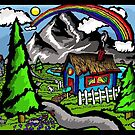 Rainbow House by depressedkat