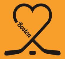 Boston Hockey Fan T-shirt! by Awesome Arts