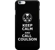 Keep calm and call coulson iPhone Case/Skin