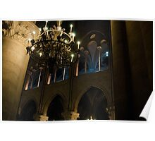 Notre Dame at Night Poster