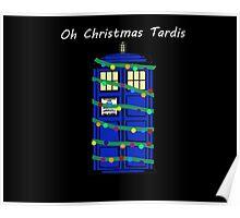 Oh Christmas Tardis Poster