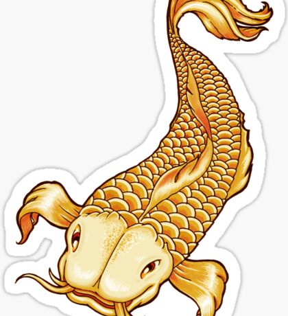 golden koi Sticker