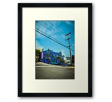 Colorful San Francisco House Framed Print