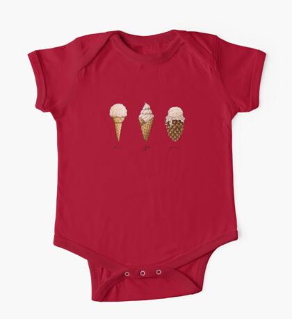 Ice-Cream Cones One Piece - Short Sleeve