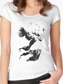 Black Cloud Women's Fitted Scoop T-Shirt