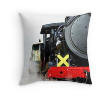 Steaming Up Throw Pillow