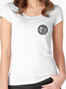 Team SoloMid (Black on White) Women's Fitted Scoop T-Shirt