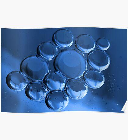 Blue Bubbles  Poster
