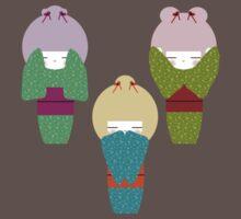 the three kokeshi's by littlegirllost