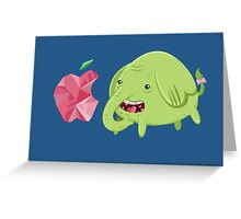 How's That Apple? - Tree Trunks Greeting Card