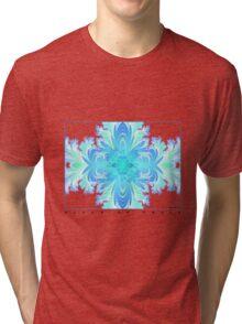 Fleur de Croix Aqua Tri-blend T-Shirt